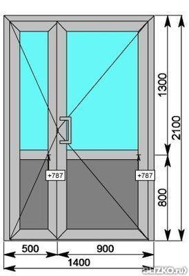 Дверь одностворчатая в проем ip 45 от компании балкон-сервис.