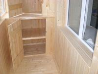 Шкафы и тумбочки на балкон с установкой
