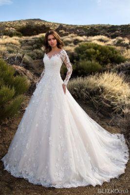 27ef2deb3 Свадебное платье Nora Naviano 16486 пышное, айвори, белое, шампань фасон Пы