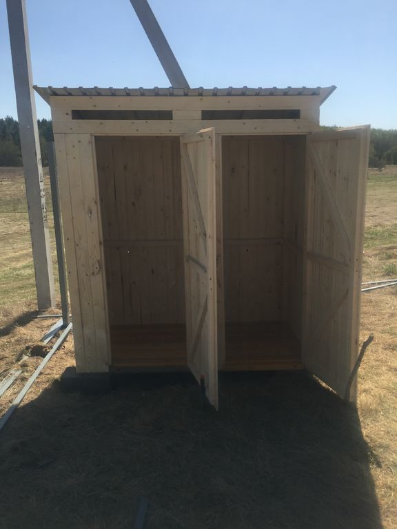 Деревянный Хозблок с туалетом (2 в 1) от компании СтройСад купить в городе Нижний Новгород