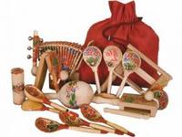 МИС Набор - Шумовых муз. Инструментов - Веселый туесок/ сумка, 11 видов инс
