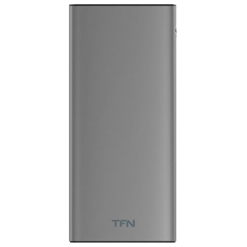 Внешний аккумулятор TFN Steel LCD 10000mAh Gray